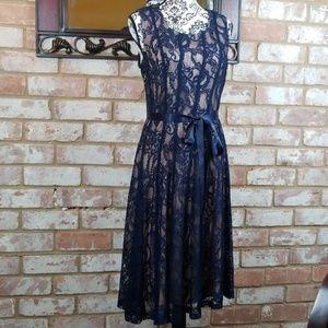 Plus Size Blue Lace Dress